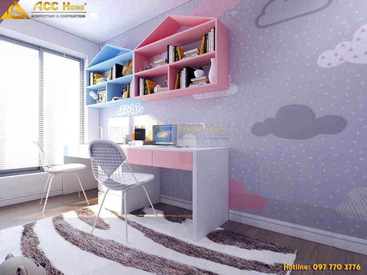 Thiết kế nội thất bàn học cho con