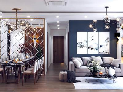 Thiết kế nội thất nhà phố rộng 92m2 nhà anh quang