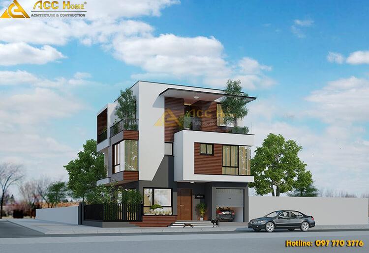 Thiết kế biệt thự hiện đại rộng 90m2 tại Hạ Long