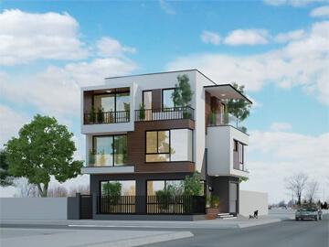 thiết kế biệt thự hiện đại 90m2 tại Quảng Ninh