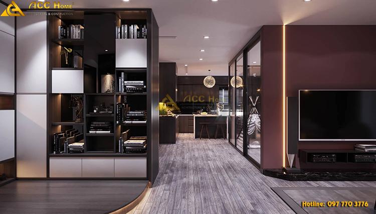 Không gian hành lang dẫn đến phòng bếp