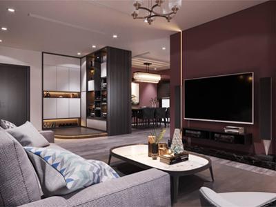 Thiết kế nội thất hiện đại căn hộ 115m2