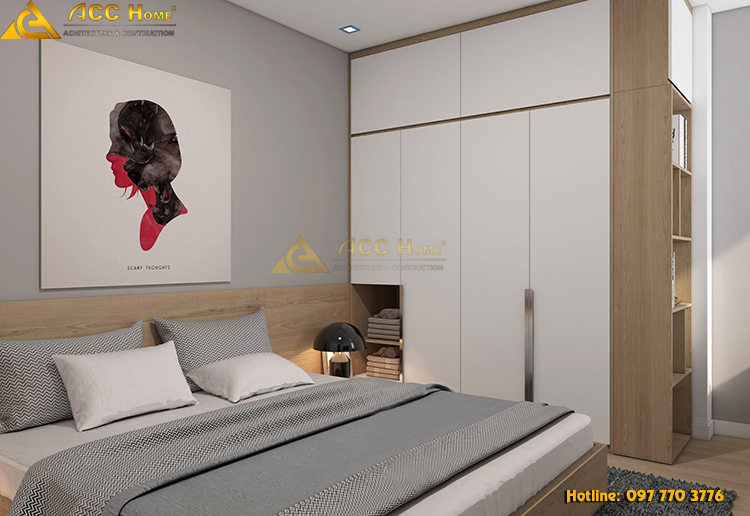 Thiết kế nội thất phòng ngủ với giường cớ lớn