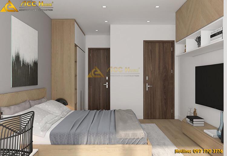 Thiết kế nội thất phòng ngủ với góc nhìn tiều cảnh