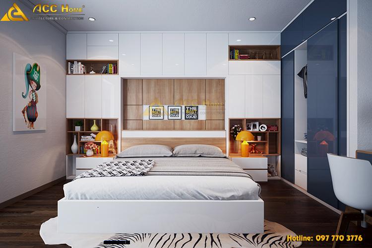 Thiết kế nội thất phòng master hiện đại