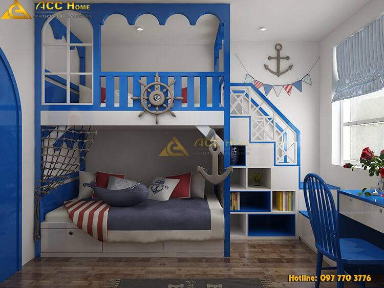 Thiết kế nội thất phòng ngủ cho con trẻ