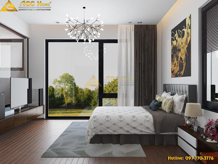 cách phối màu không gian phòng ngủ