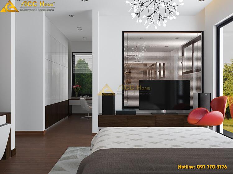 phòng ngủ được thiết kế riêng tư