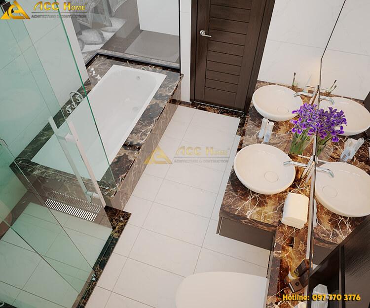 Thiết kế nội thất phòng tắm sang trọng tiện nghi