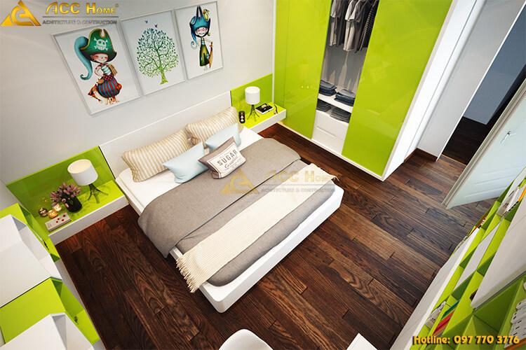 Thiết kế nội thất không gian phòng ngủ trẻ con