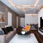 Thiết kế nội thất nhà phố hiện đại pha tân cổ điển