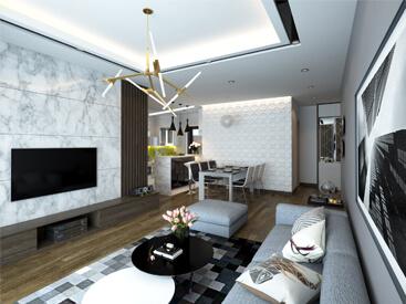 thiết kế nội thất hiện đại pha chút tân cổ điển tại Dương Nội Hà Đông