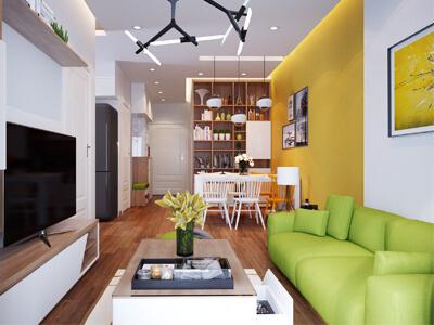 thiết kế nội thất nhà phố với diện tích 86,8m2