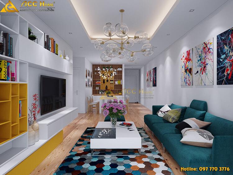 Thiết kế nội thất nhà phố góc nhìn tổng quát