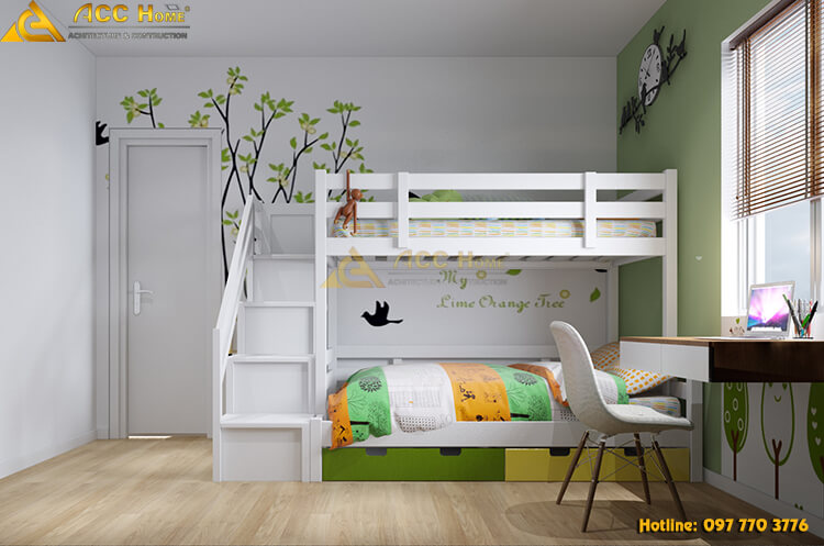 Thiết kế nội thất phòng ngủ con trẻ