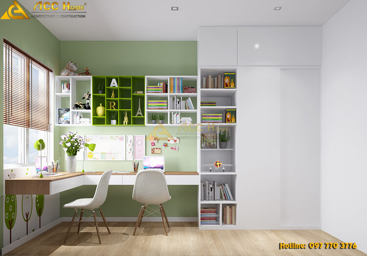 Thiết kế phòng học tập cho con trẻ