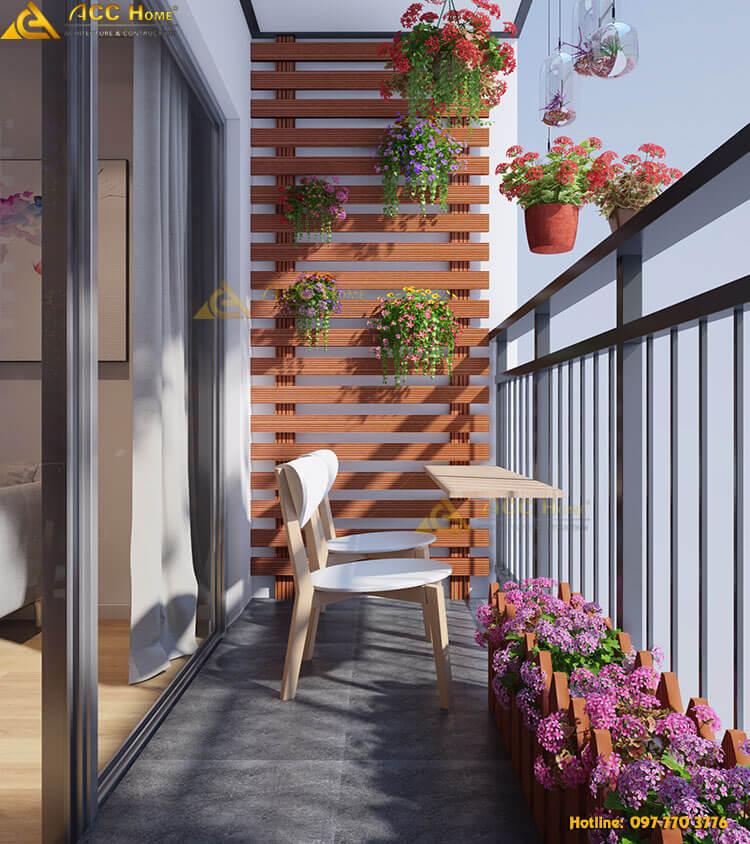Thiết kế không gian ban công nhà phố