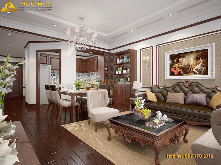 Thiết kế nội thất phòng khách tại Thạch Thất Hà Nội