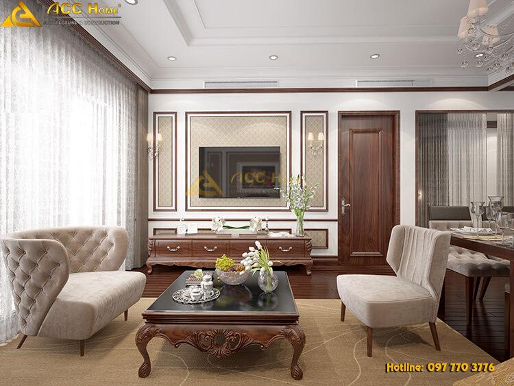 thiết kế không gian nội thất phòng khách