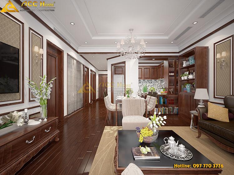 Nội thất phòng khách được thiết kế tối giản