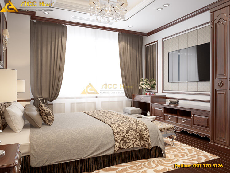 không gian ánh sáng phòng ngủ được lấy tự nhiên
