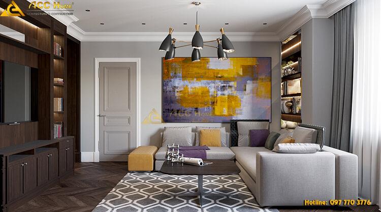 Thiết kế nội thất phòng khách tại Ba Đình Hà Nội