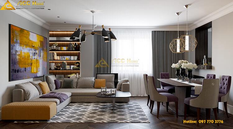 Phòng khách được lấy ánh sáng tự nhiên