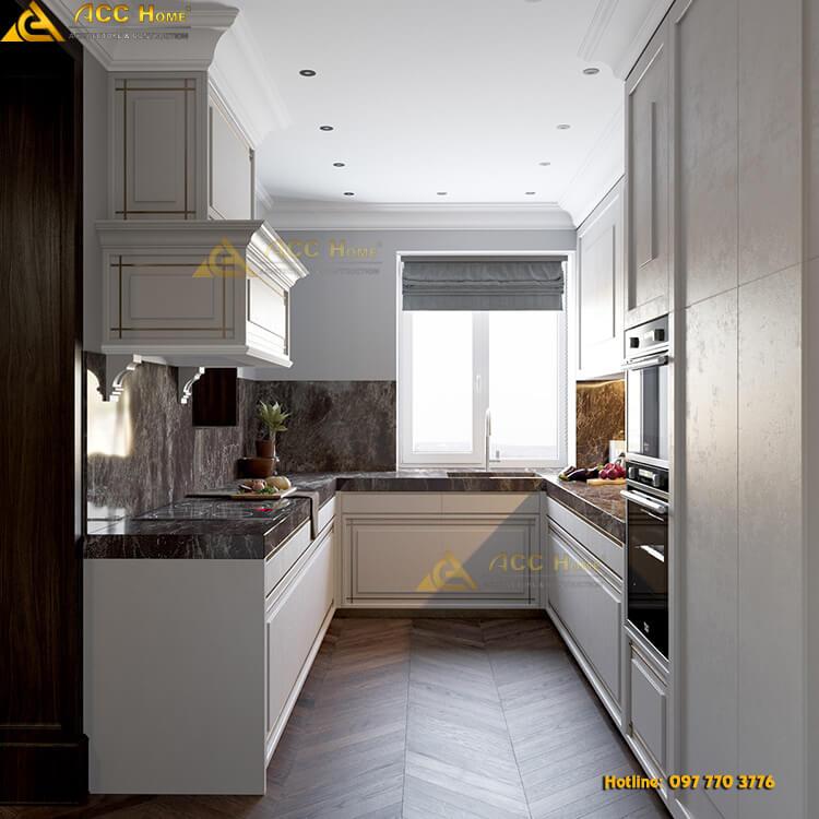 Thiết kế nội thất phòng bếp nhà phố
