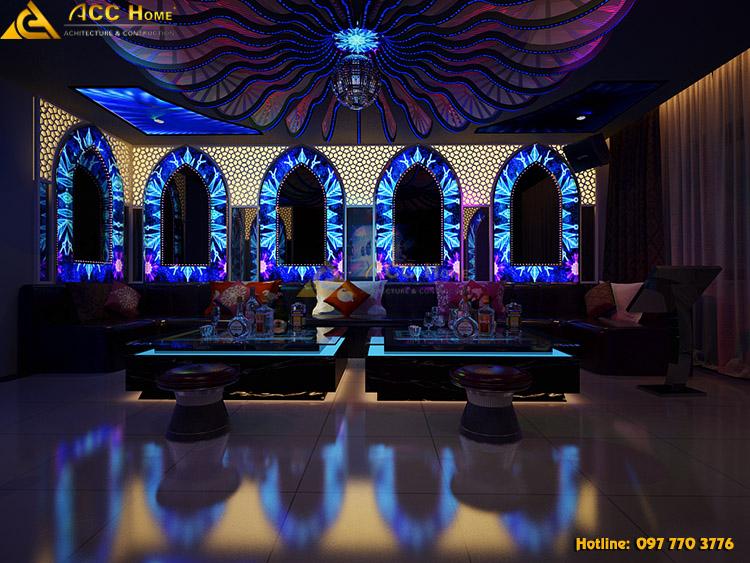thiết kế quán karaoke rộng rãi