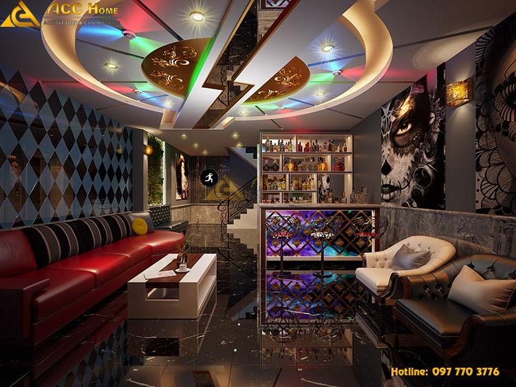 Thiết kế quán karaok hiện đại tại Hà Đông