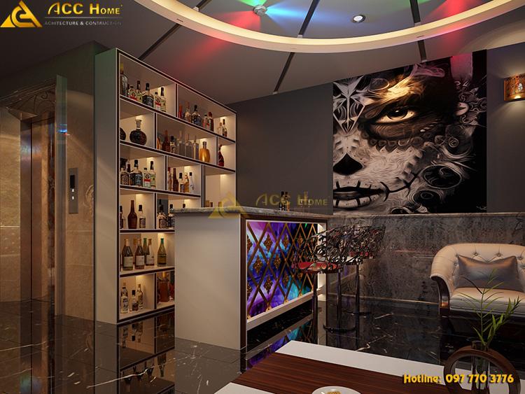 thiết kế không gian quán karaoke tại Hà Đông