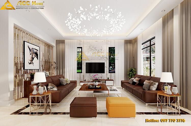 thiết kế phòng khách tại khu thiên đường bảo sơn