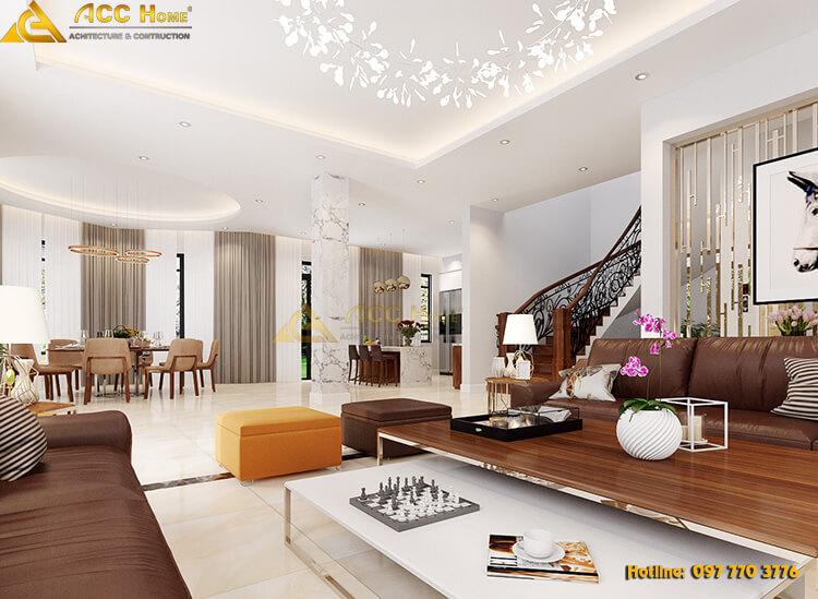 thiết kế nội thất tone màu sáng