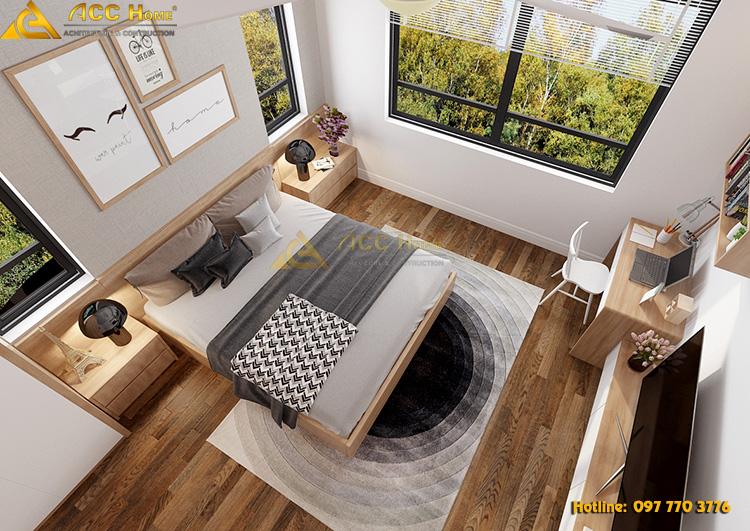 view phòng ngủ từ trên xuống