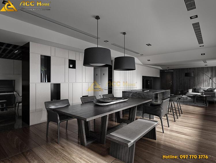 Thiết kế nội thất phòng ăn tại trung văn