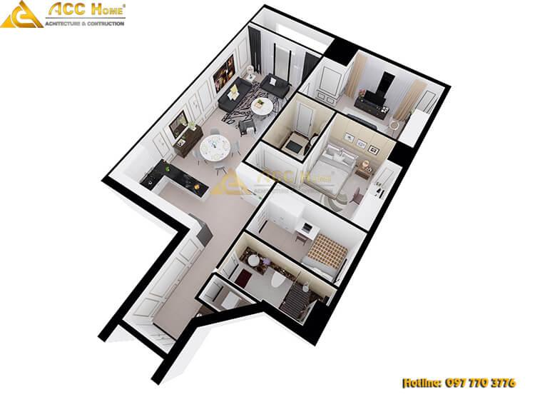 bản vẽ sơ đồ nội thất chung cư 81m2