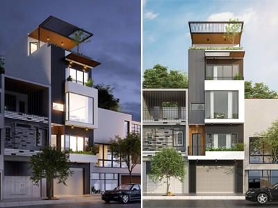 mẫu thiết kế nhà phố mặt tiền 5m tại Đồng Kỵ Từ Sơn Bắc Ninh