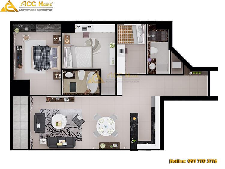bản vẻ sơ đồ chung nội thất các phòng