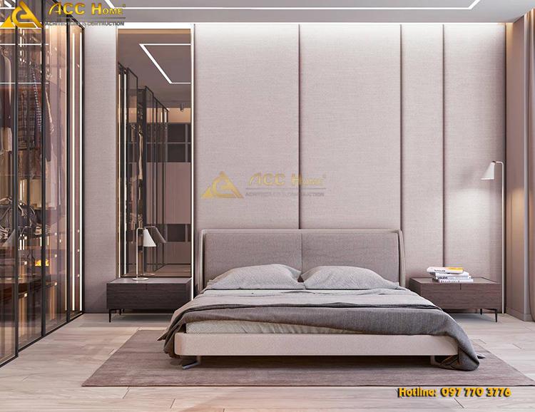 thiết kế nội thất phòng ngủ ấm áp sang trọng