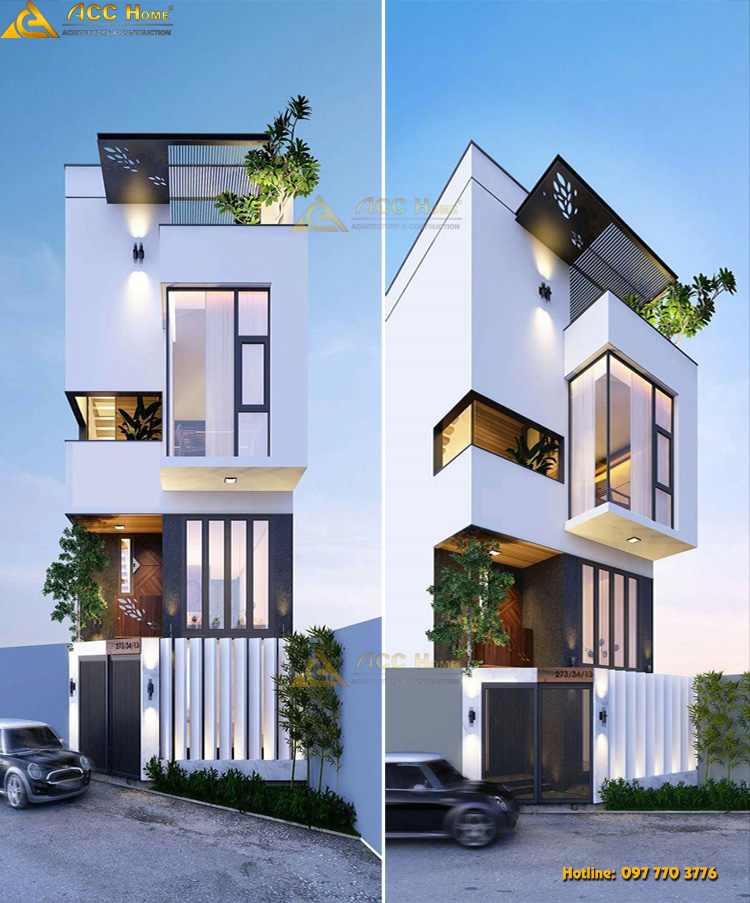 Phối cảnh nhà phố hiện đại 3.5 tầng tại Thanh Xuân Hà Nội