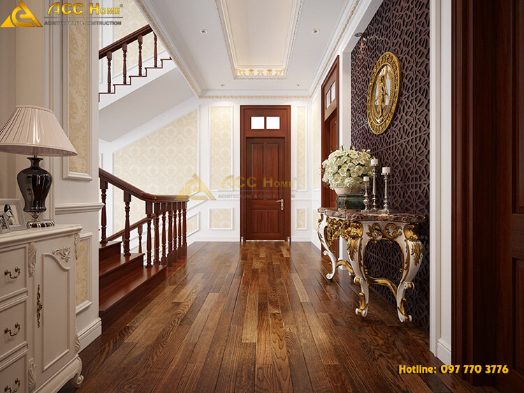 thiết kế lới hành lang đi lại giữa các phòng