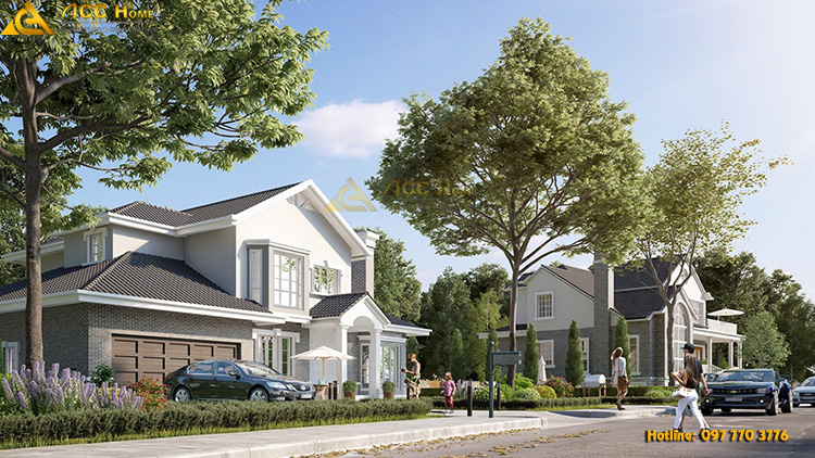 thiết kế biệt thự nhà vườn 2 tầng tại Hoàng Mai Hà Nôi