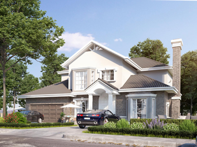 Mẫu thiết kế biệt thự nhà vườn 2 tầng mái thái tại Hoàng Mai Hà Nội
