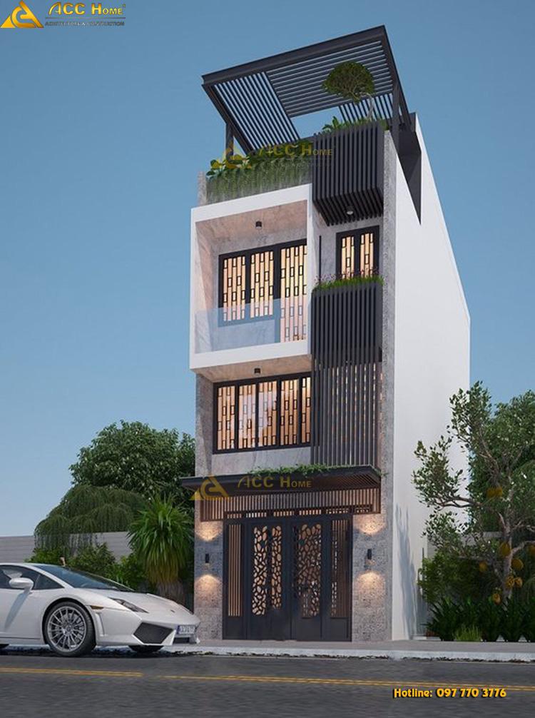 Mẫu thiết kế nhà phố hiện đại 4 tầng tại Bắc Ninh