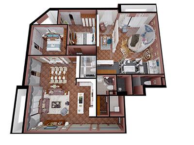 Thiết kế nội thất căn hộ chung cư 220m2 cho gia chủ Lưu Việt Quỳnh