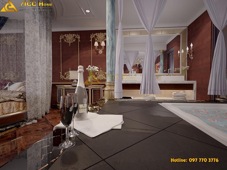 Thiết kế bồn tắm thư giãn ngay cạnh phòng ngủ