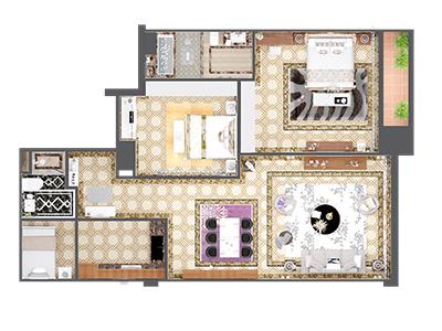 thiết kế nội thất cổ điển 130m2 tại Tây Hồ Hà Nội