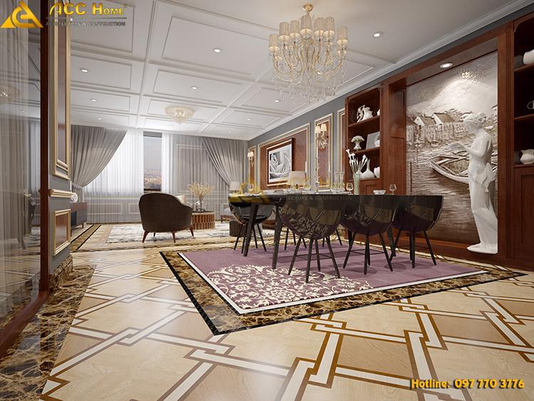 thiết kế phòng ăn trong chung cư