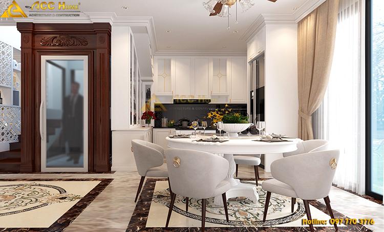 thiết kế nội thất phòng bếp căn hộ 72m2