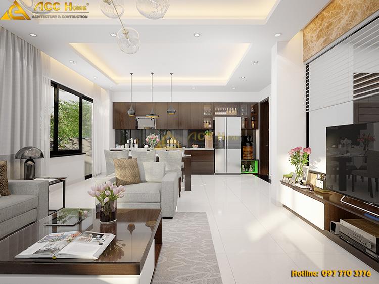 không gian phòng khách được thiết kế rất rộng